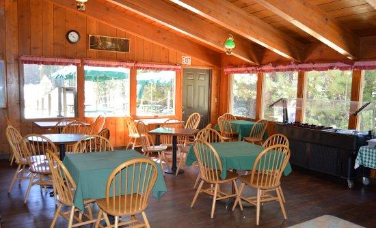 Stony Creek Lodge: Dining Room for Breakfast & Pizza Restaurant
