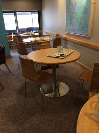 The Place To Eat at John Lewis Reading: uncleared tables all around us