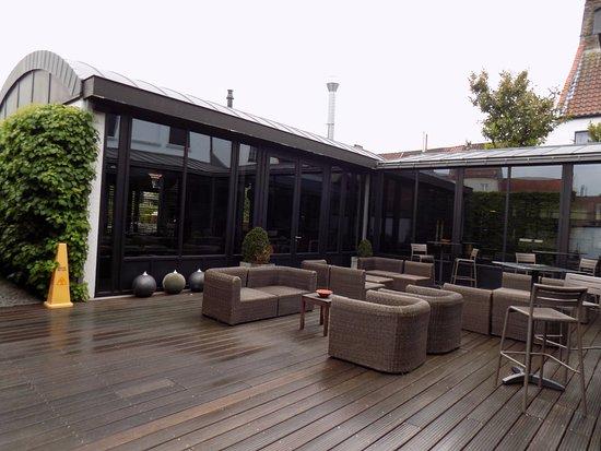 Hotel Montanus: terrasse extérieure