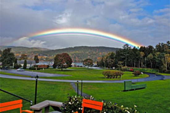 Northeast Harbor, ME: Rainbow over the Marina
