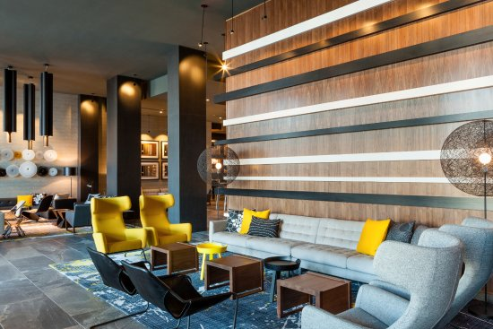 The Lobby Of Le Merin Charlotte Hotel Create A Synergy Inspiration And Art
