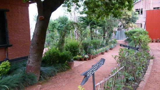 Dhulikhel Mountain Resort Hotel: Weg zum Speisesaal