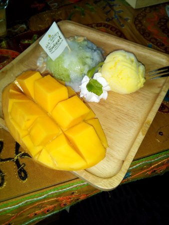 All About Sweet: mango con arroz de coco y helado