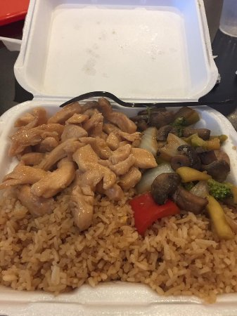 Pikeville, KY: Hibachi chicken and pink lady sushi