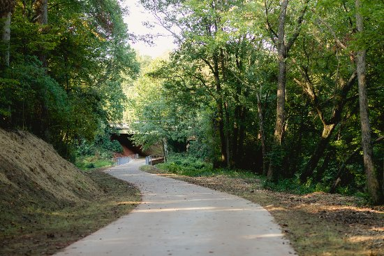 Columbia Drive underpass - the Carrollton GreenBelt trail