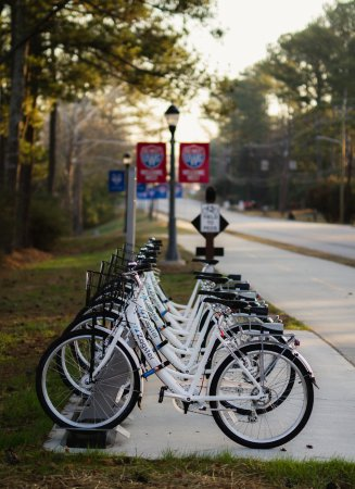 Zagster Bike Share Station - University of West Georgia  - the Carrollton GreenBelt trail