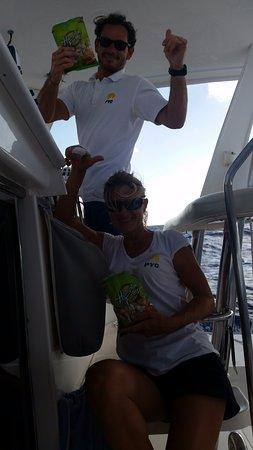 Oyster Pond, St. Maarten/St. Martin: Captain Thomas & Celine