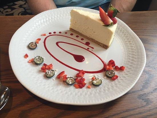 Pontardawe, UK: White chocolate cheesecake.