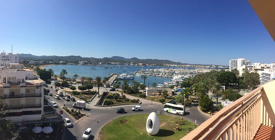 Hotel Piscis: Our view of beautiful Ibiza