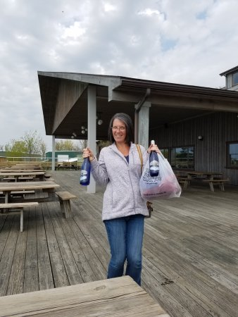 Lodi, NY: She's happy with her purchases