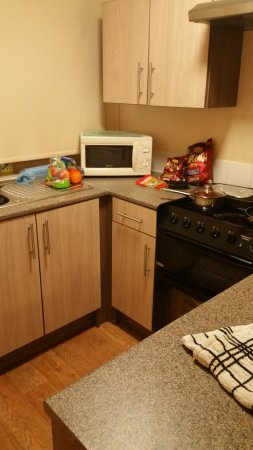 Golden Sands Holiday Park - Park Holidays UK: This is the Kitchen where there is only enough for one person