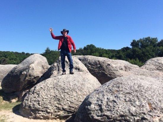 Big Rocks Park...careful getting down!