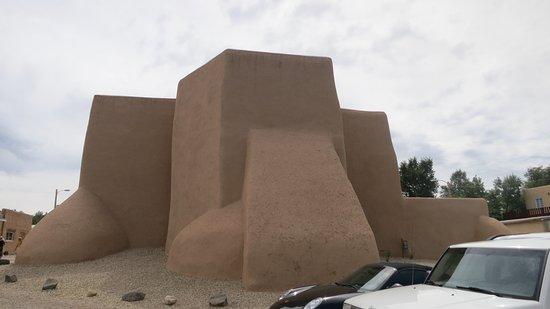 The back of the San Francisco de Assisi Mission Church, Ranchos de Taos