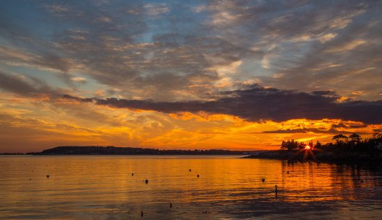 East Boothbay, ME: The best sunsets in Maine!