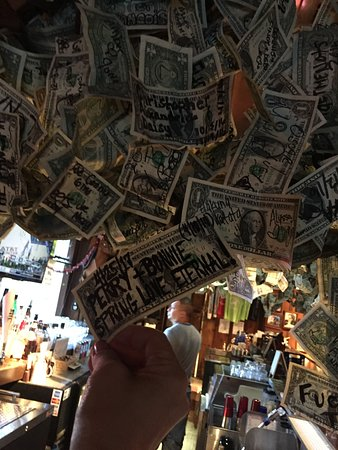 Blue Diamond, NV: Just a TINY section of the money hanging from the ceiling