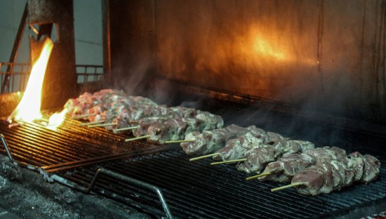 Donousa, Greece: The oldest grill on Donoussa island! Our own authentic souvlaki for a full Greek flavor!