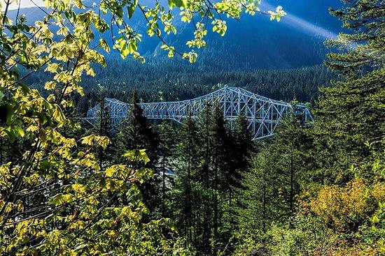 Stevenson, WA: Called Bridge of the Gods. Passes over Columbia river from Washington to Oregon.