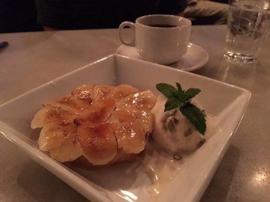 Bistro Jeanty banana cream pie with rum raisin ice cream