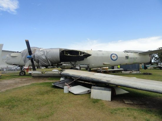 Queensland Air Museum : The Neptune is being rebuilt after being relcoated from Far North QLD