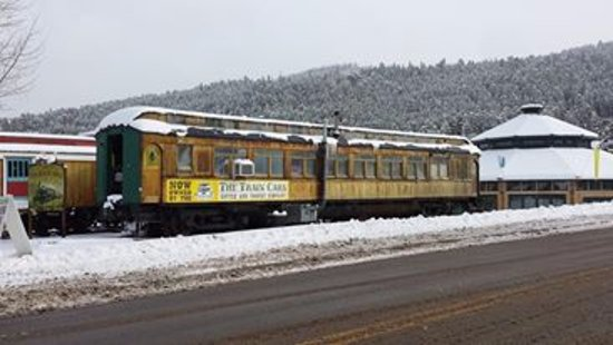 Polar Vortex, Train Car Cafe in Nederland, Colorado Nov 2013