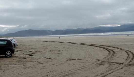 Kilkee Blue Flag Beach: you can drive onto the beach….