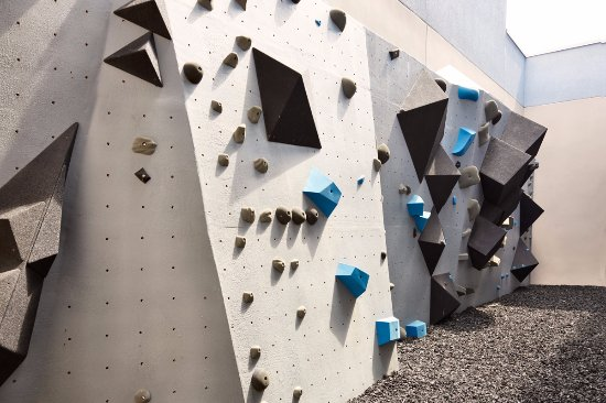 The Gym Complete With Climbing Walls