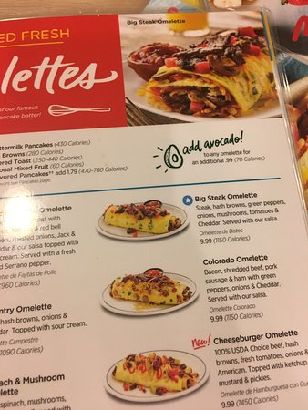 Shawnee, KS: Had the steak, asked for medium rare but came out well done! And the steak omelette with waffles