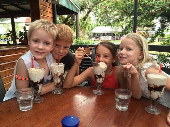 Daintree, Australia: the DVh serves a fabulous range of sweet treats, smoothies, milkshakes and sundaes!