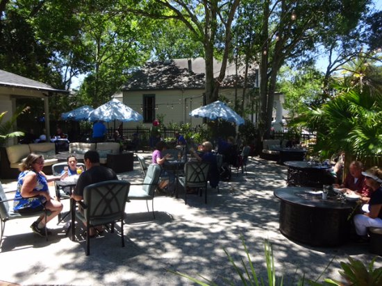 The Patio Place: One View Of Their Tree Covered Patio On The Side Of