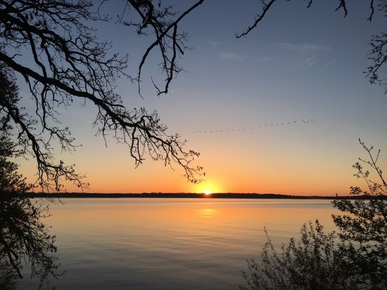 Milford, IA: Sunrise over West Okoboji