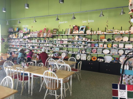 Wausau, WI: We pottery painting, glass fusing, board art, wheel throwing & canvas painting.