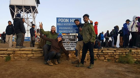 Bagmati Zone, Nepal: At the top of Poon Hill! 10,000 ft for all you Americans ;)
