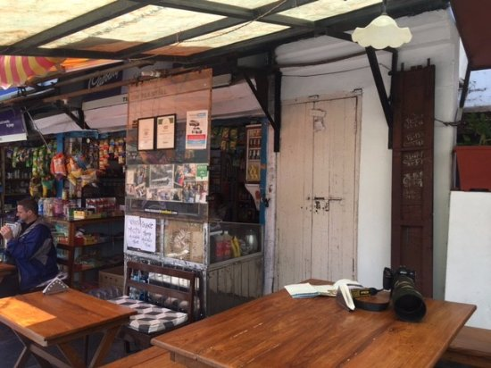 Tip Top Tea Shop: The tables and exteriors