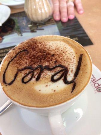 Newhaven, Australia: Personalised coffee