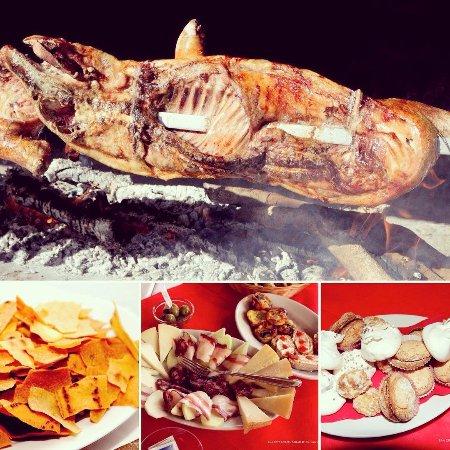 Serdiana, Italy: alcuni piatti tipici che è possibile degustare all'Agriturismo S'isca Manna