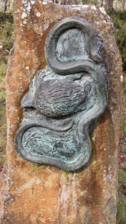 Poatina, Australia: One of the sculptures at the Steppes Stones