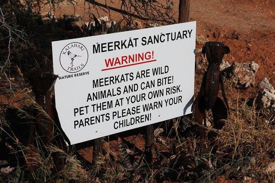Kalahari Trails: Warning