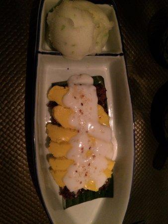 Riz Noir Et Flan Thai Avec Sorbet Citron Picture Of Chez Meh