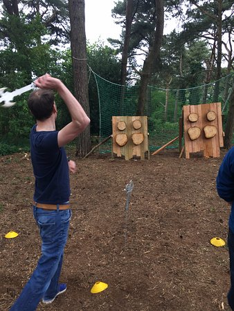 Axe Throwing with Insight Activities in Dorset