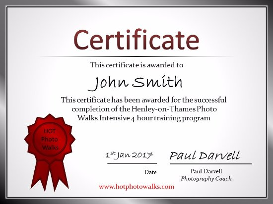 all participants get a certificate at the end of the course