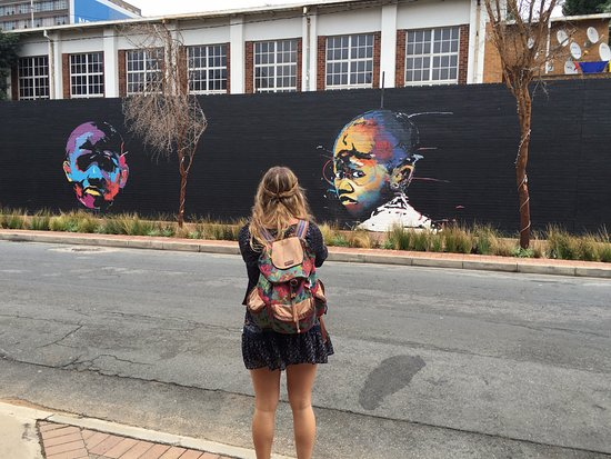 Johannesborg, Sydafrika: Graffiti Wall around Maboneng
