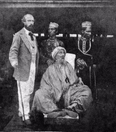 Tomb of Bahadur Shah Zafar : King Zafar n his two sons in the custody of British officer David