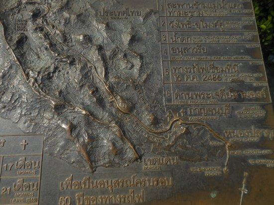 War Museum : Kanchanaburi, il plastico della ferrovia della morte