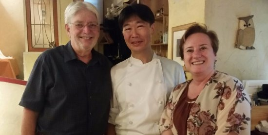 RISTORANTE CIVETTA : My husband and I with our chef