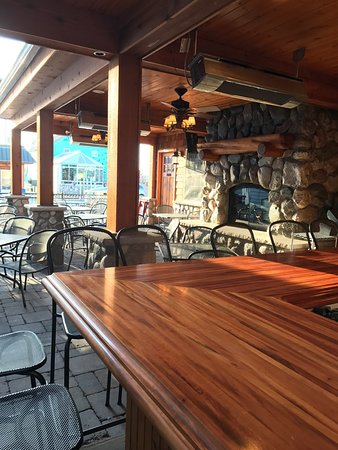 Suttons Bay, MI: Outdoor patio, newly remodeled interior