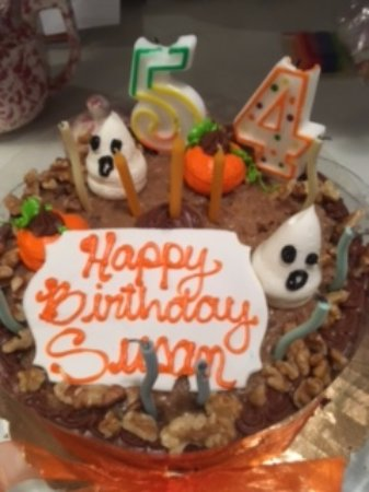 Outstanding Halloween Cake For A Halloween Birthday Picture Of Dortoni Cream Personalised Birthday Cards Petedlily Jamesorg