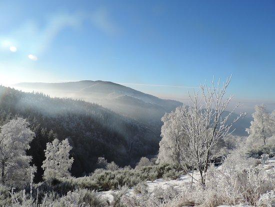 Thann, فرنسا: Le décor en hiver 