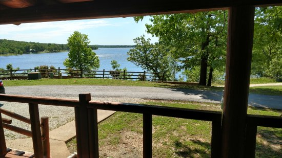 Horseshoe Bend, AR: Pictures of the Lake from the Porch