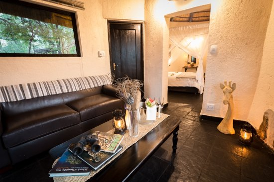 Balule Nature Reserve, South Africa: Billy's Lodge Luxury Cottage Private Lounge View 2