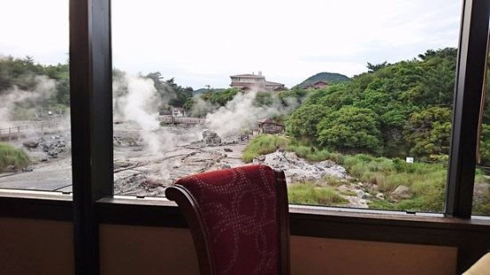 Kyushu Hotel: レストランから地獄が望めます